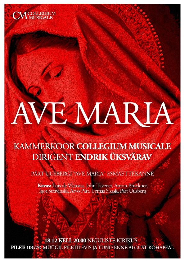 """Collegium Musicale jõulukontserdil kõlab Pärt Uusbergi """"Ave Maria"""" esmaettekanne"""
