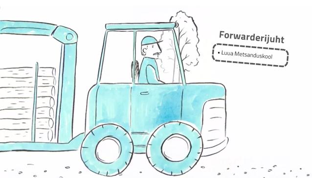 Eesti Metsaseltsil valmis metsasektori ameteid tutvustav multifilm