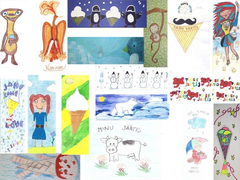 Balbiino avas laste jäätisepaberi kujundamise konkursi virtuaalnäituse