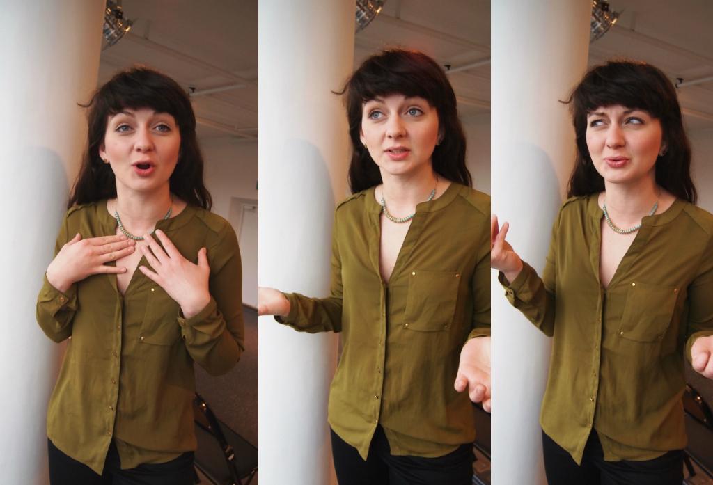 Näitleja Kaili Viidas annab loengu prantsuse kunstnikust Philippe Dussaert'ist