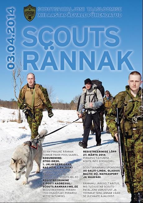Veel saab registreeruda Scoutsrännakule