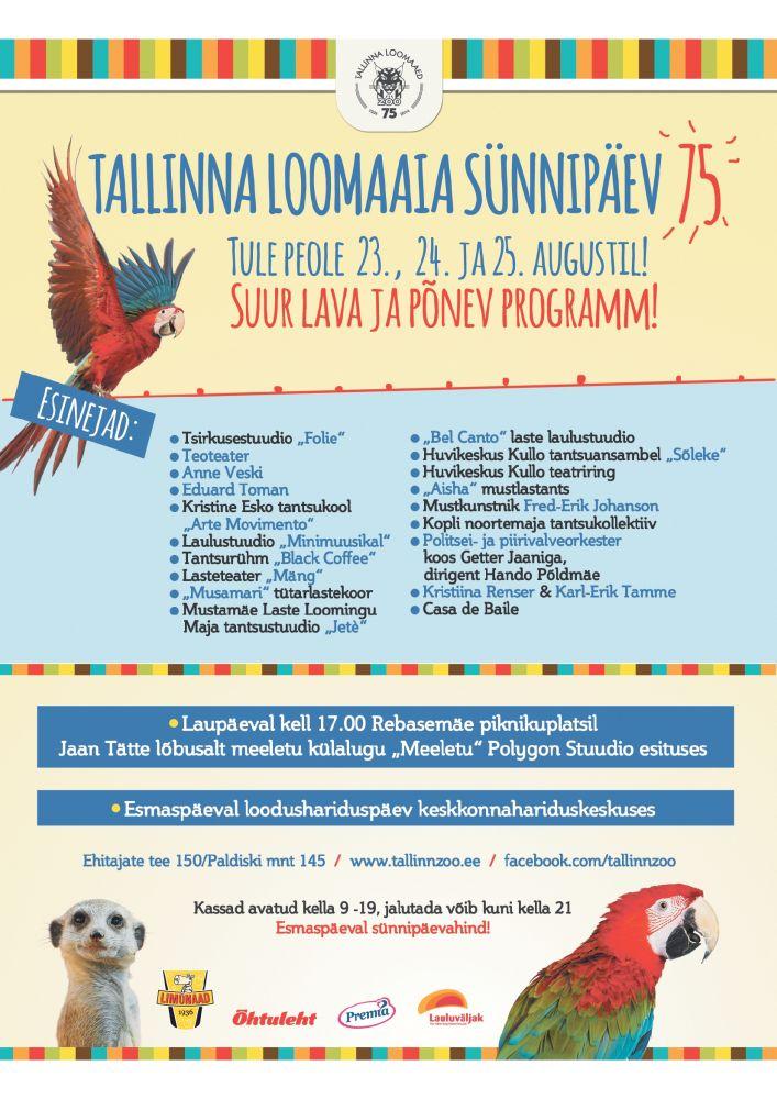 Tallinna loomaed peab 75. sünnipäeva