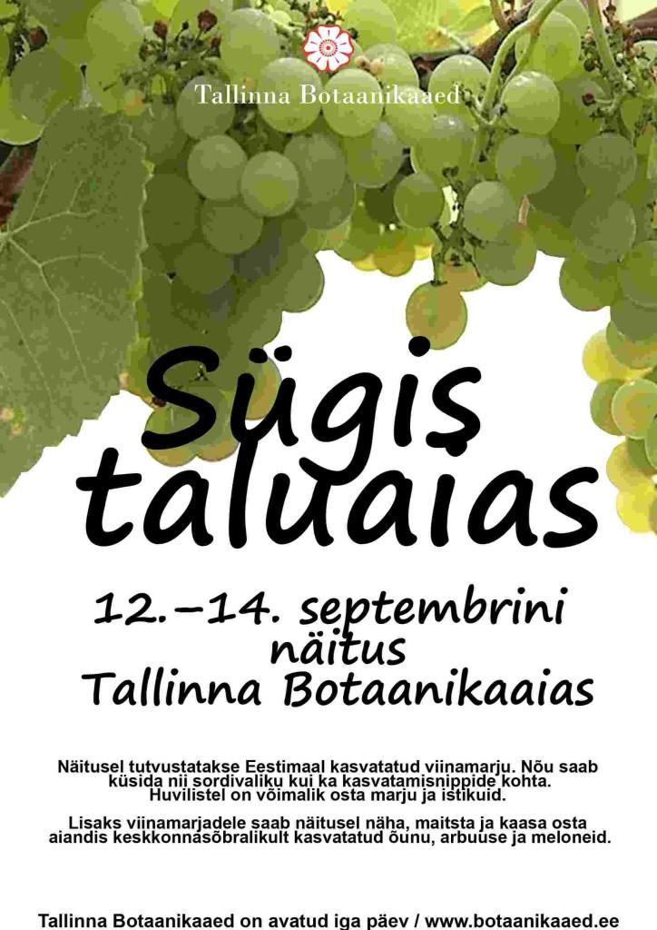 """Tallinna Botaanikaaed kutsub """"Sügis taluaias"""" näitusele"""