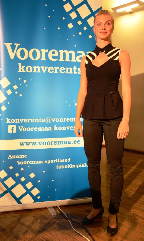 Saskia Alusalu Vooremaa konverentsil Jõgeva Kultuurikeskuses Foto: Aivar Kokk