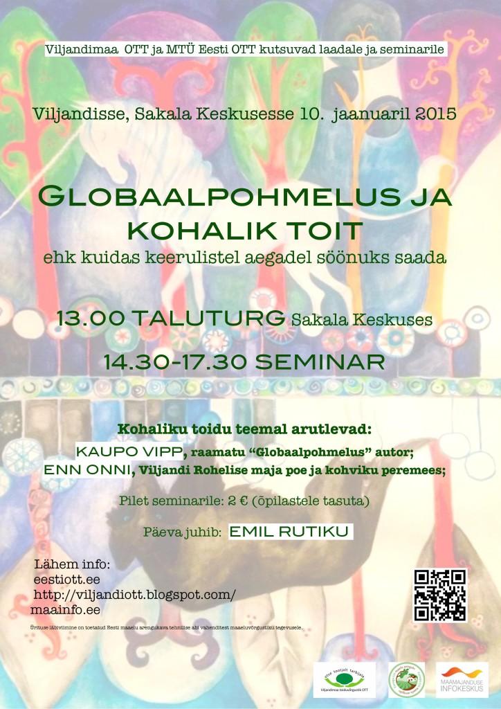 OTT toiduvõrgustik valmistub Viljandis globaalpohmeluseks