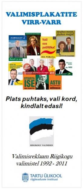 Eesti erakondade valimisplakatitest avatakse näitus