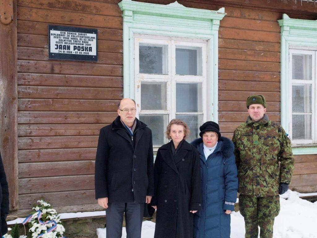 Tartu rahu 95. aastapäeva meenutati riigimees Poska sünnikodu juures