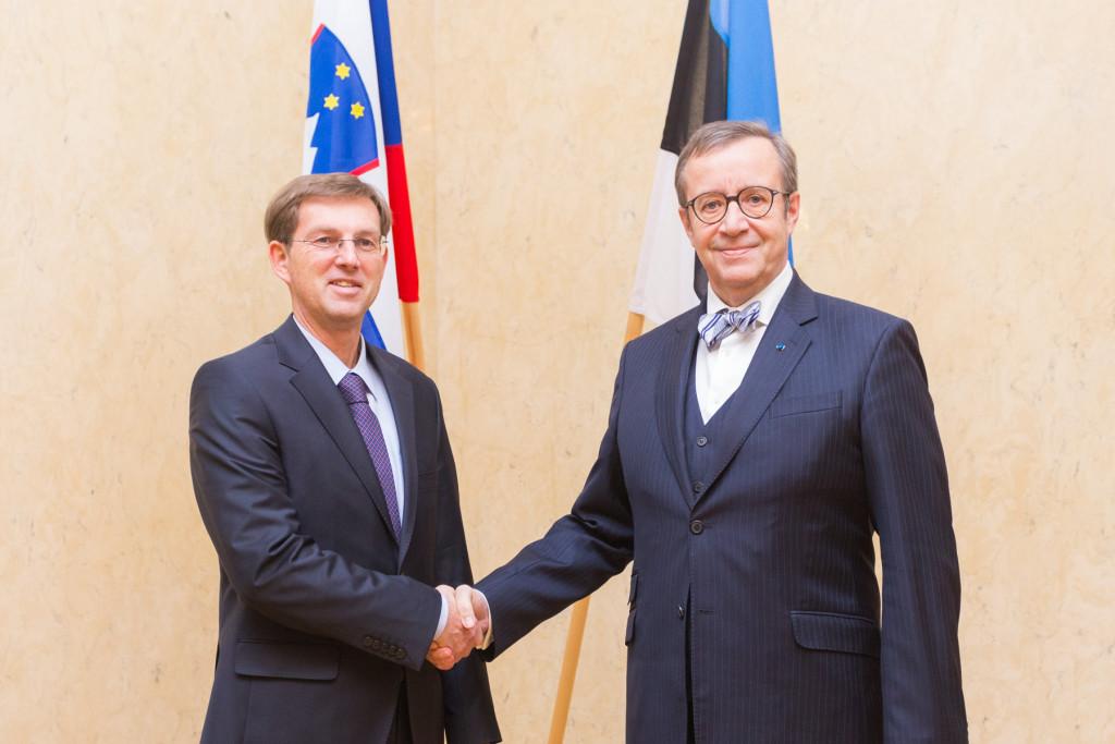 President Ilves kohtus Sloveenia peaministri Miro Cerariga