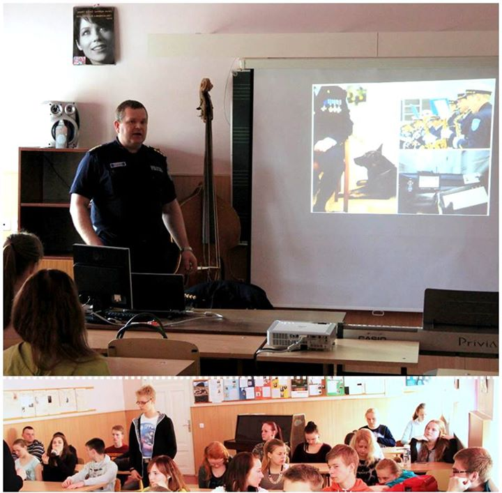 Fotol on Valga politseinik Robert Kõvask, kes tutvustas abipolitseiniku ametit piirilinna lastele