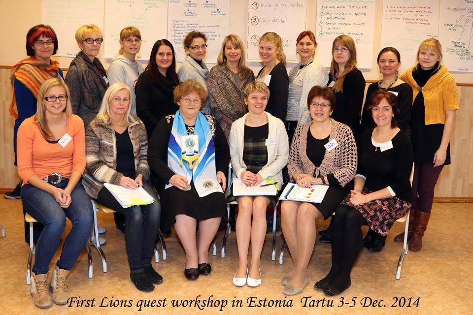 I Lions Quest koolitus Tartus 3.-5. detsember 2014