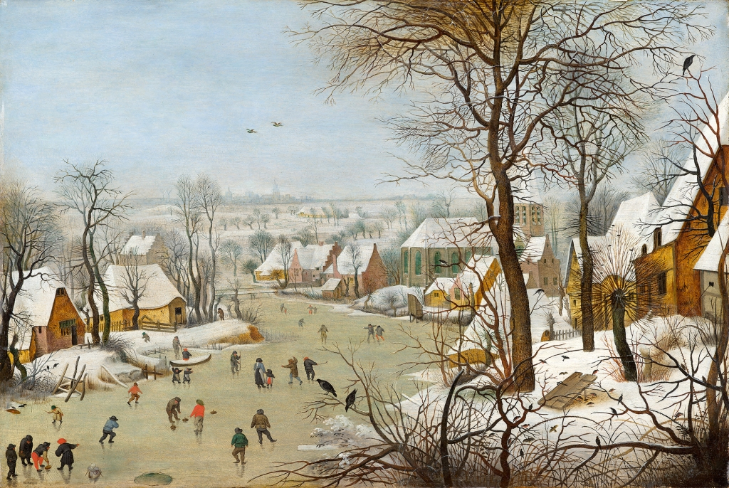 """LIUELDES INIMELU JÄÄL! Pieter Brueghel noorema teose """"Talvemaastik Linnupüünisega"""" juhtmotiiviks oli elu lühiajalisus"""