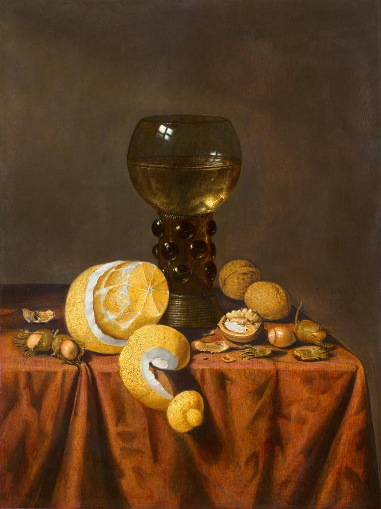 """""""Vaikelu Karika, Sidruni Ja Metspähklitega Laual"""" Edwaert Collier Breda Tegutses enne 1663 – London või Leiden 1708"""