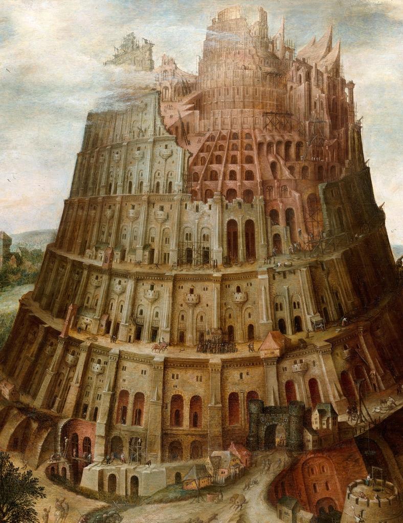 """Paabeli Torn"" Marten van Valckenborch Leuven 1535 – Frankfurt am Main 1612"