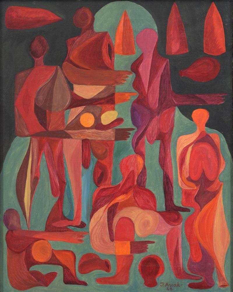 Jüri Arrak Inimesed 1966. õli, lõuend 76 x 61 cm