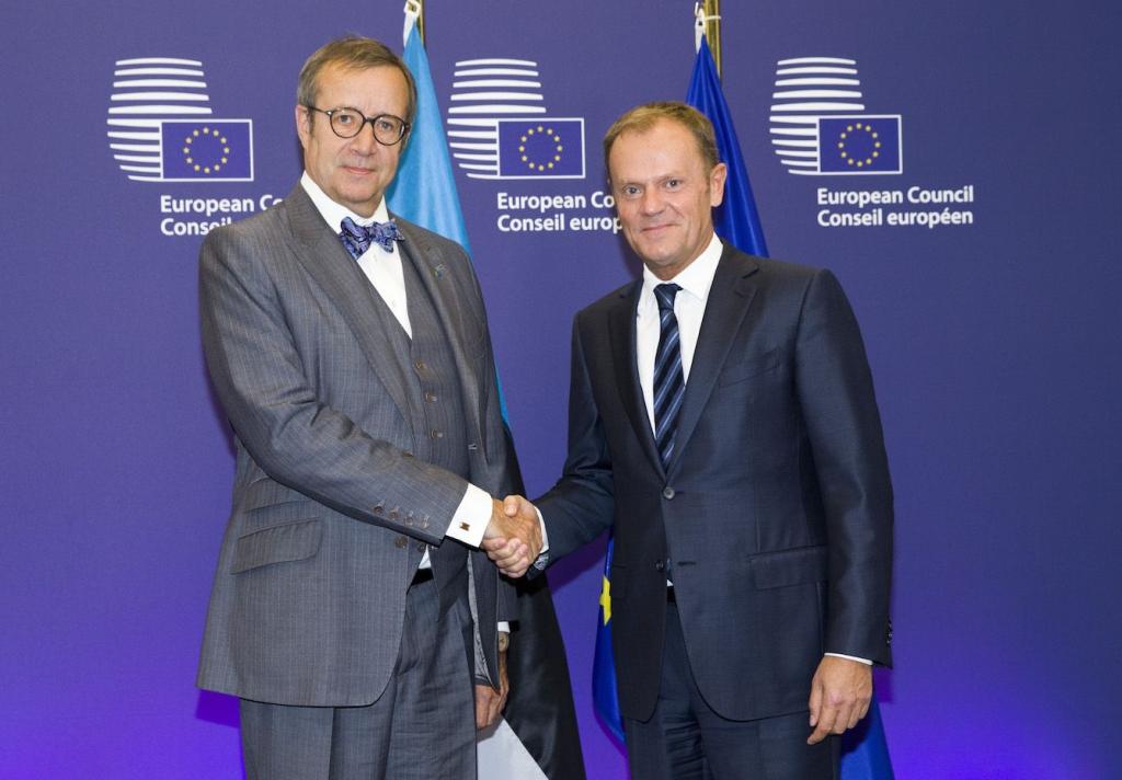 President Toomas Hendrik Ilves ja Euroopa Ülemkogu eesistuja Donald Tusk Foto: Euroopa Komisjon