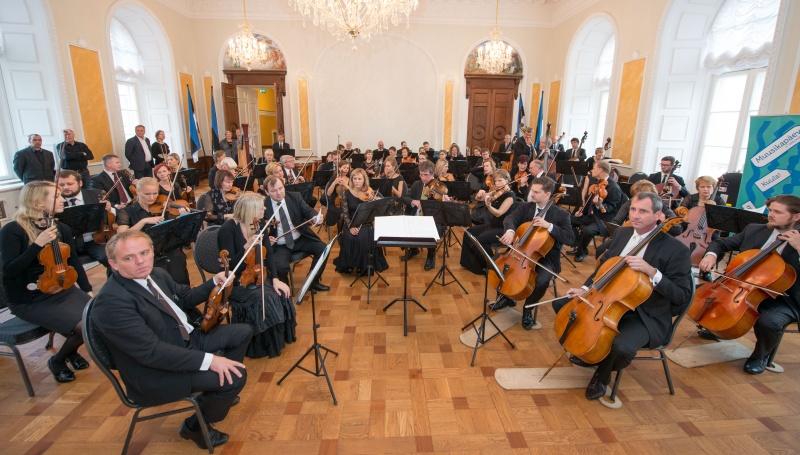 ERSO andis Toompea lossi Valges saalis muusikapäevale võimsa akordi
