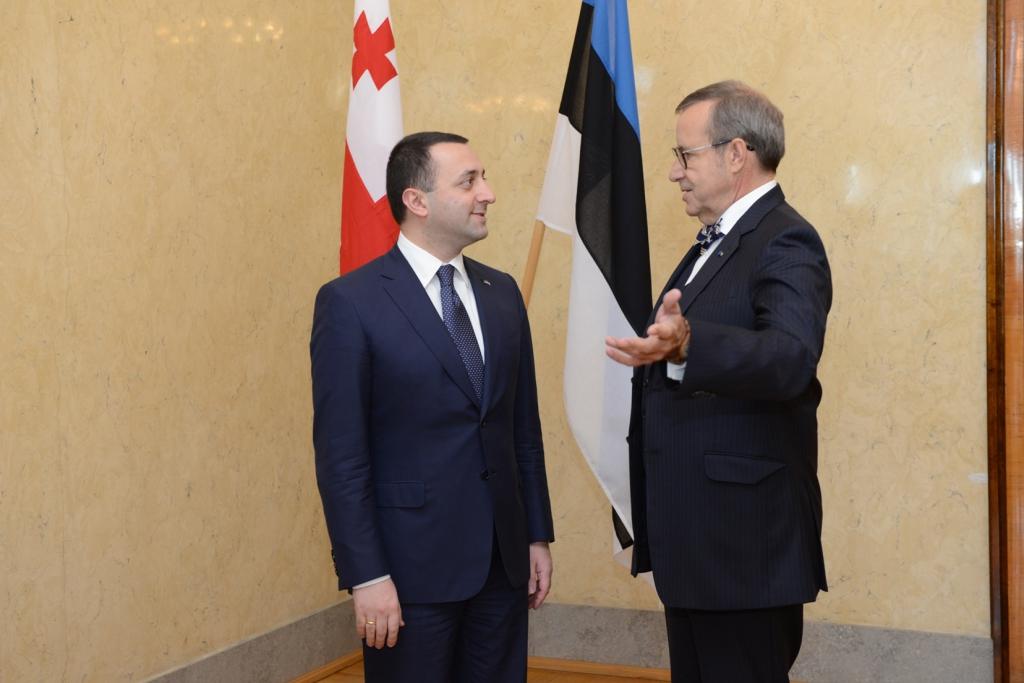 VISIIT EESTISSE! Eesti riigipea kohtus Gruusia peaministriga