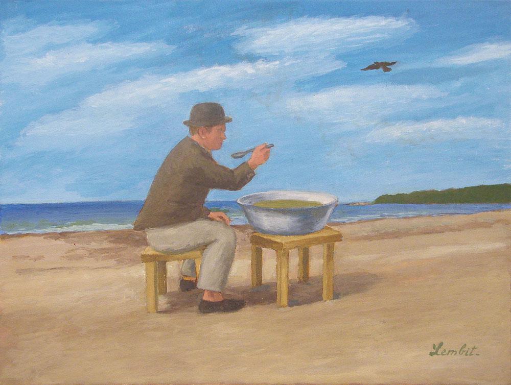 """Lembit Sarapuu """"Kodanik sööb vabas looduses õhtusööki"""""""