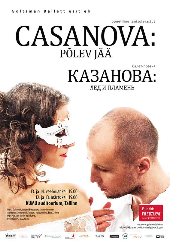 """Kumus esietendub Maria Goltsmani poeetiline tantsulavastus """"Casanova: Põlev jää"""""""