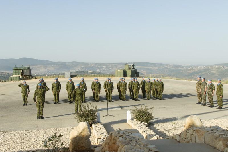 Liibanonis teenivad kaitseväelased tähistavad võidupüha