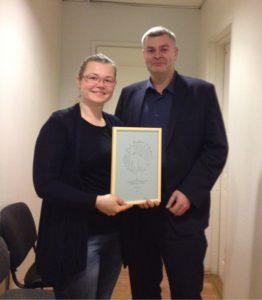 Varjupaikade MTÜ üldjuht Triinu Priks ja Tallinna Keskkonnaameti juhataja Relo Ligi Foto: Varjupaikade MTÜ