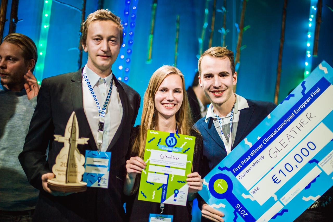 PALJU ÕNNE! Eesti iduettevõte Gleather võitis esikoha Euroopa suurimal rohetehnoloogia võistlusel