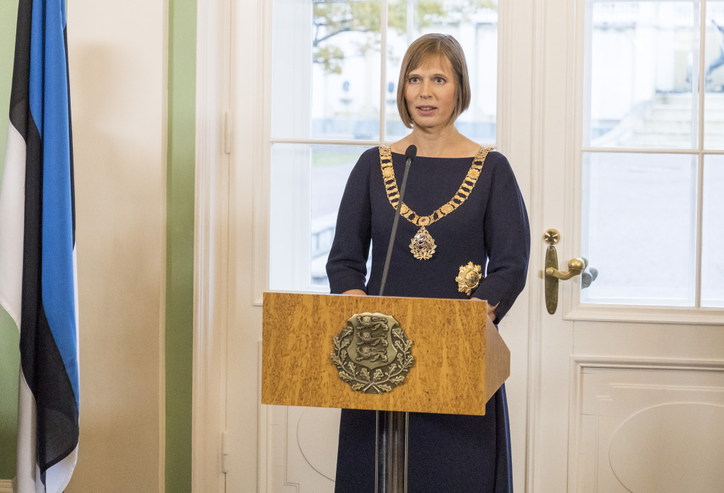 President Kersti Kaljulaid kõneleb Arvo Pärdi Keskuse toetusüritusel New Yorgis