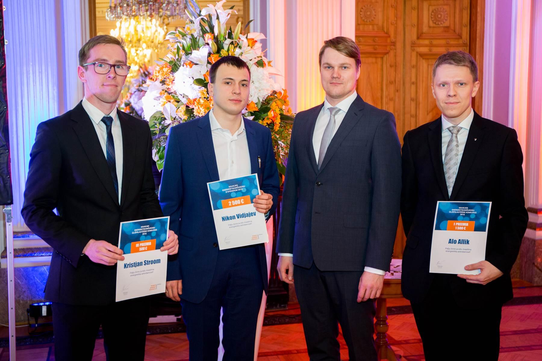 Palju õnne! Maailma Energeetikanõukogu 2500 eurose stipendiumi võitis Nikon Vidjajev