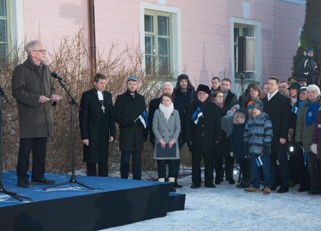 Riigikogu esimees Eiki Nestor: selle nimel, et vabas Eestis sündinud ja siin sirguvad lapsed ei karda, tasus meil elada