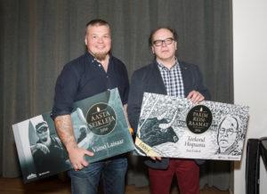 Aasta seikleja Väino Laisaar ja parima reisiraamatu autor Jaan Undusk Foto: Meeli Küttim