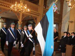 Jumalateenistus Eesti lipp 132 tähistamise ajal 2016.aastal