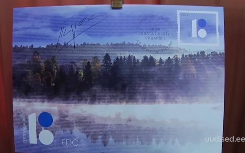Eesti 100. sünnipäevaks valminud postmargil ja ümbrikul on kujutatud kaunist kodumaa loodust