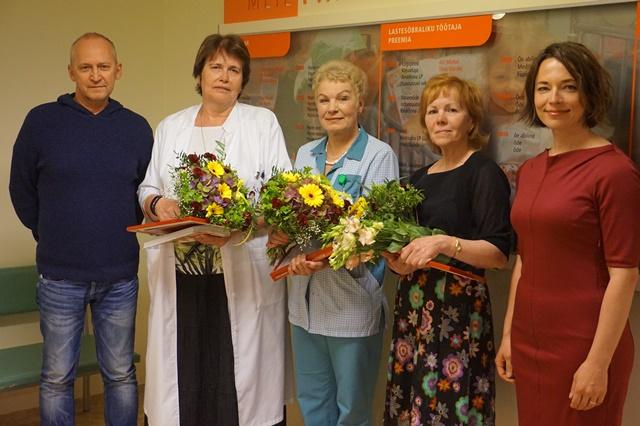 Palju õnne! Tallinna Lastehaigla tunnustas kõige lapsesõbralikumaid töötajaid