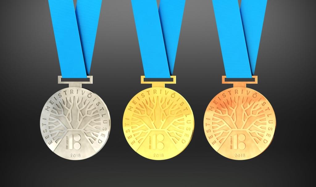 EV100 Eesti meistrivõistluste medalikonkursi võitis tammepuu motiiviga kujundus