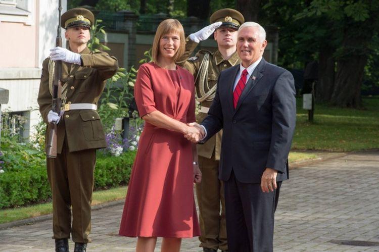 President Kaljulaid kohtus Kadriorus Ameerika Ühendriikide asepresidendiga