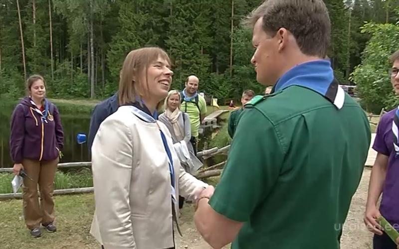 VIDEO! President Kersti Kaljulaid külastas Järvamaal toimunud skautide suurlaagrit