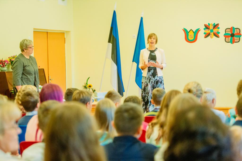 President Kersti Kaljulaid avas kooliaasta Vihasoo algkool-lasteaias