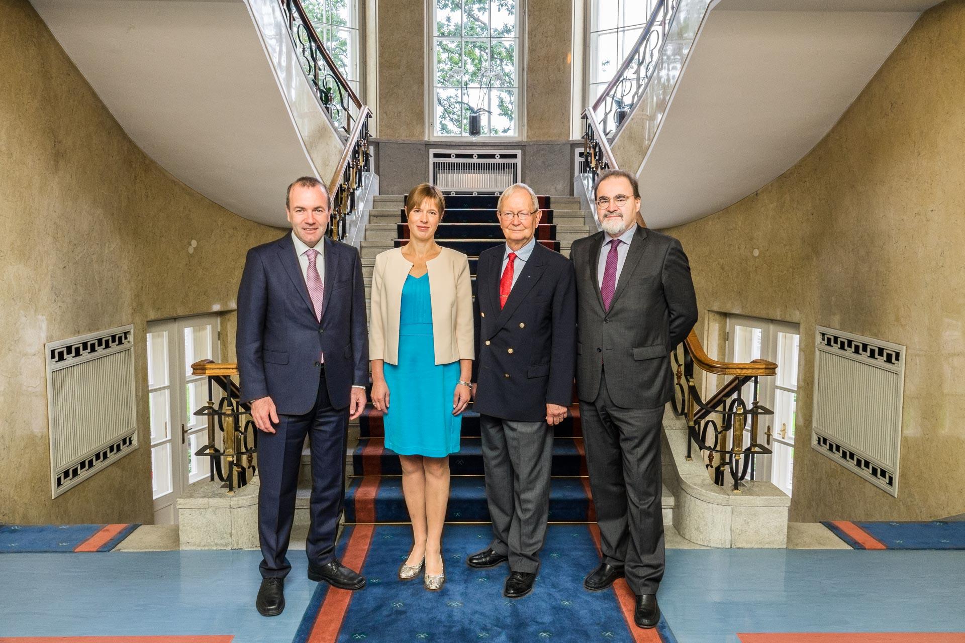 President Kaljulaid kohtus Euroopa Parlamendi suurima fraktsiooni juhiga