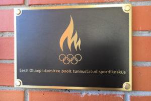 EOK tunnustatud spordikeskuse plaat