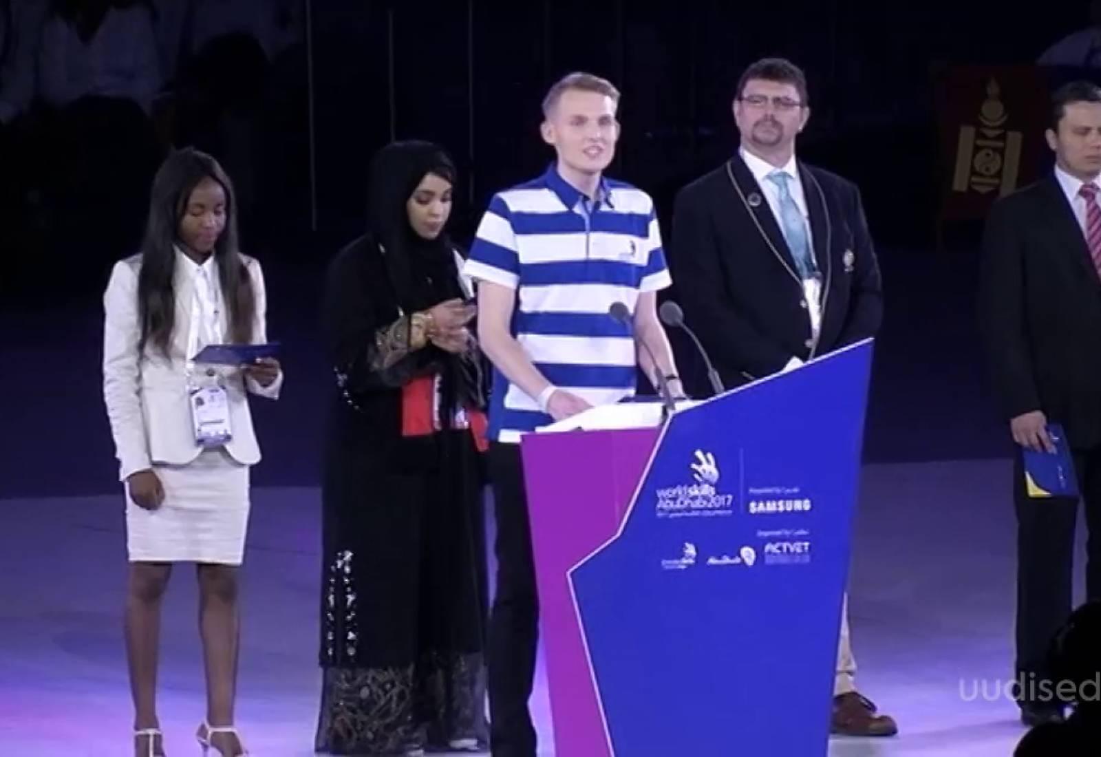 VIDEO! Eriline tunnustus! Eesti noormees avas kutsemeisterlikkuse võistluse Worldskills