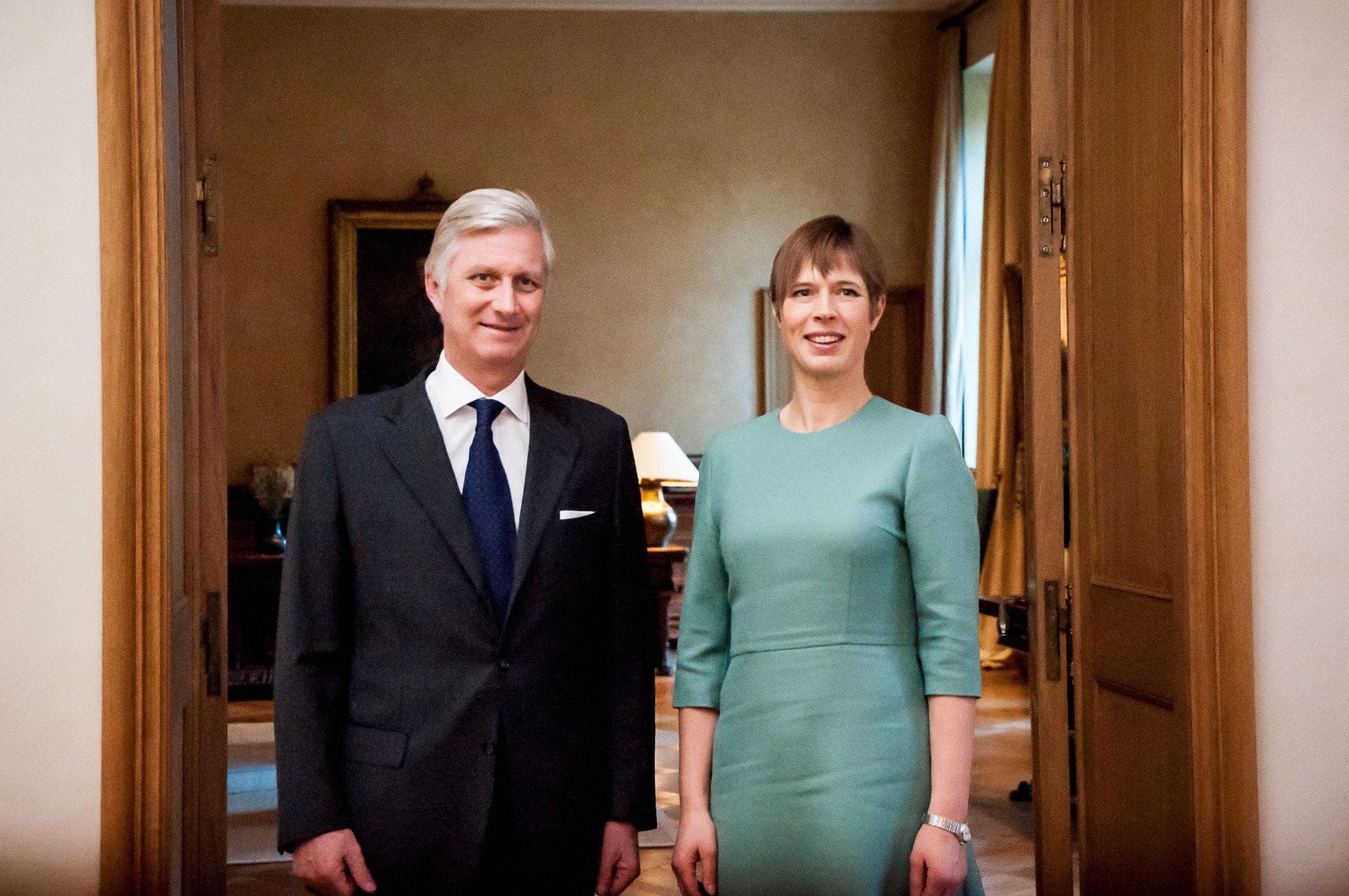 President Kaljulaid kohtus belglaste kuninga ja Belgia peaministriga