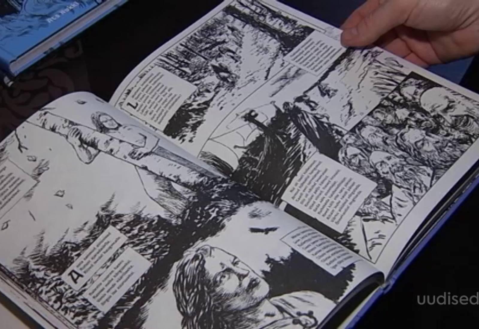 """Video! Tõetruud illustratsioonid aitavad rahvuseepost """"Kalevipoeg"""" paremini mõista"""