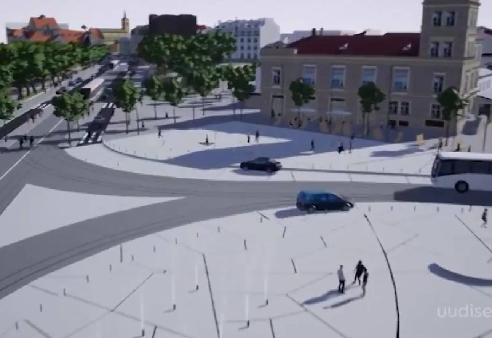 Video! Tallinna kesklinn muutub lähiaastatel rohelisemaks ja oluliselt sõbralikumaks jalakäijatele