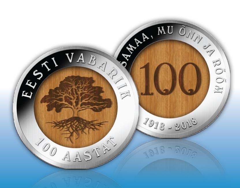 EESTI 100! Eesti Mündiäri kingib eestlastele 25 000 tammesüdamikuga juubelimedalit