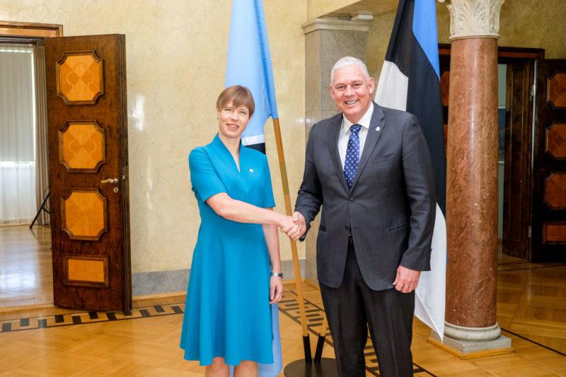 FOTOD! President Kersti Kaljulaid kohtus St. Lucia peaministriga