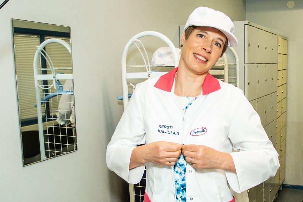 GALERII! President käis jäätisevabrikus uudistamas jäätisetegu
