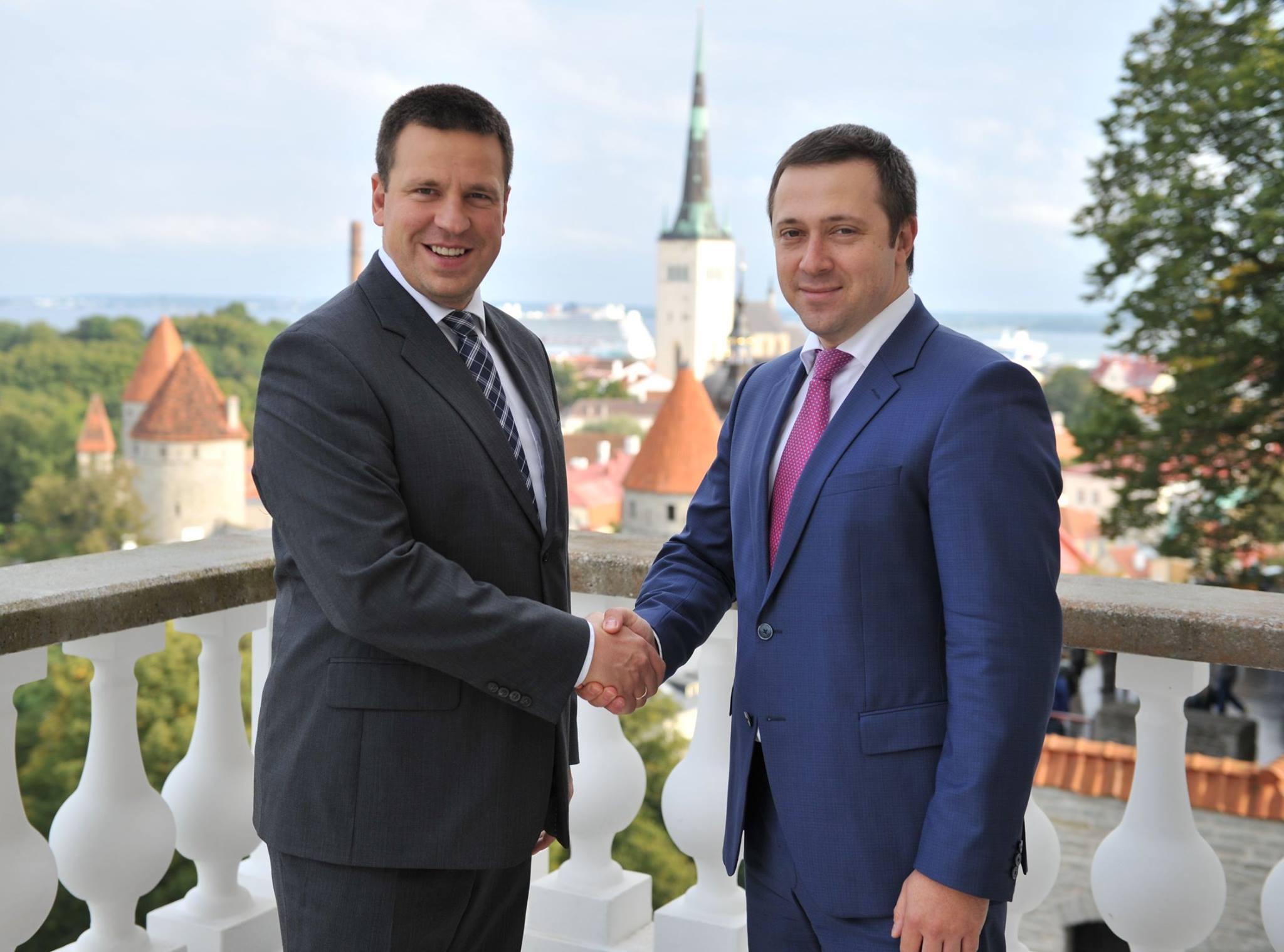 Jüri Ratas ja Vadim Belobrovtsev