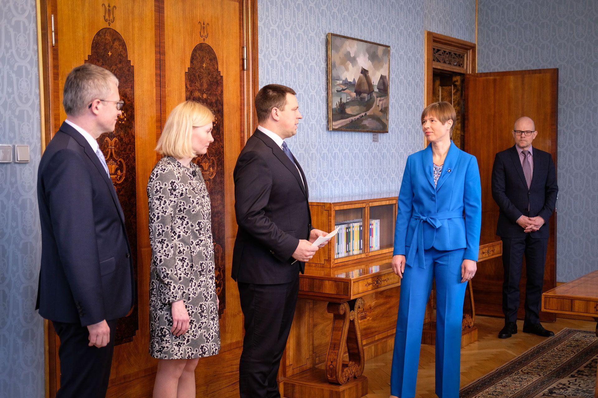 Vabariigi President nimetas ametisse kaks uut ministrit