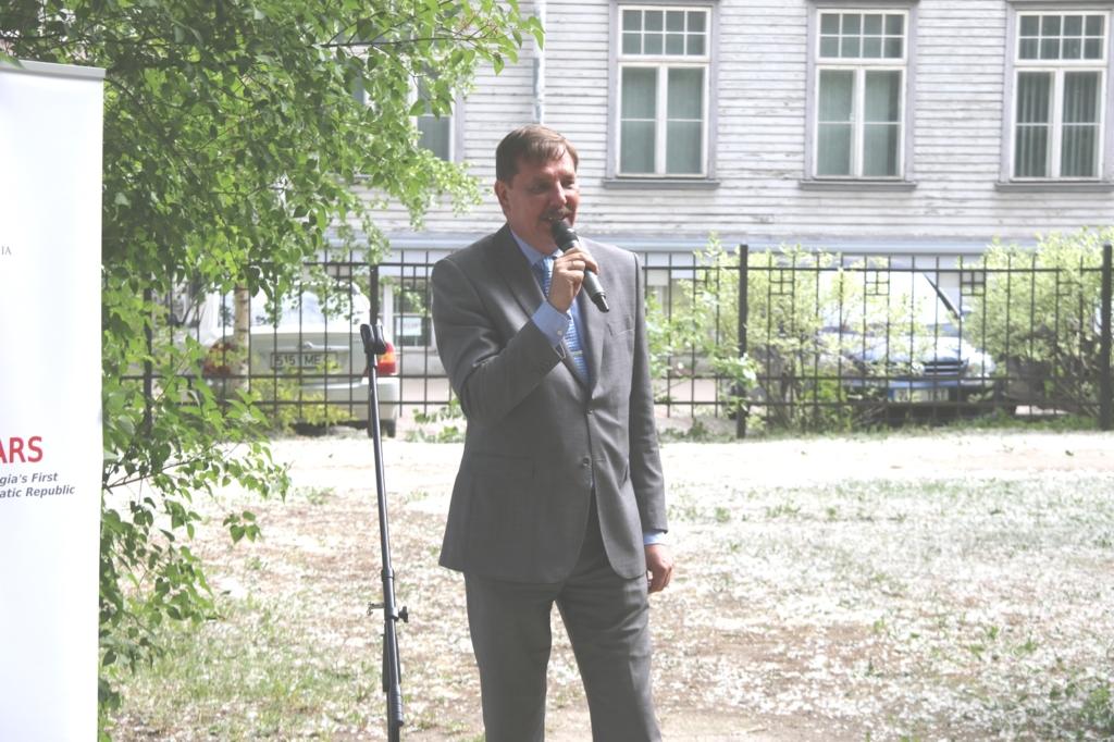 Tallinnas avati Gruusia Vabariigi esimese esinduse asukohas mälestustahvel