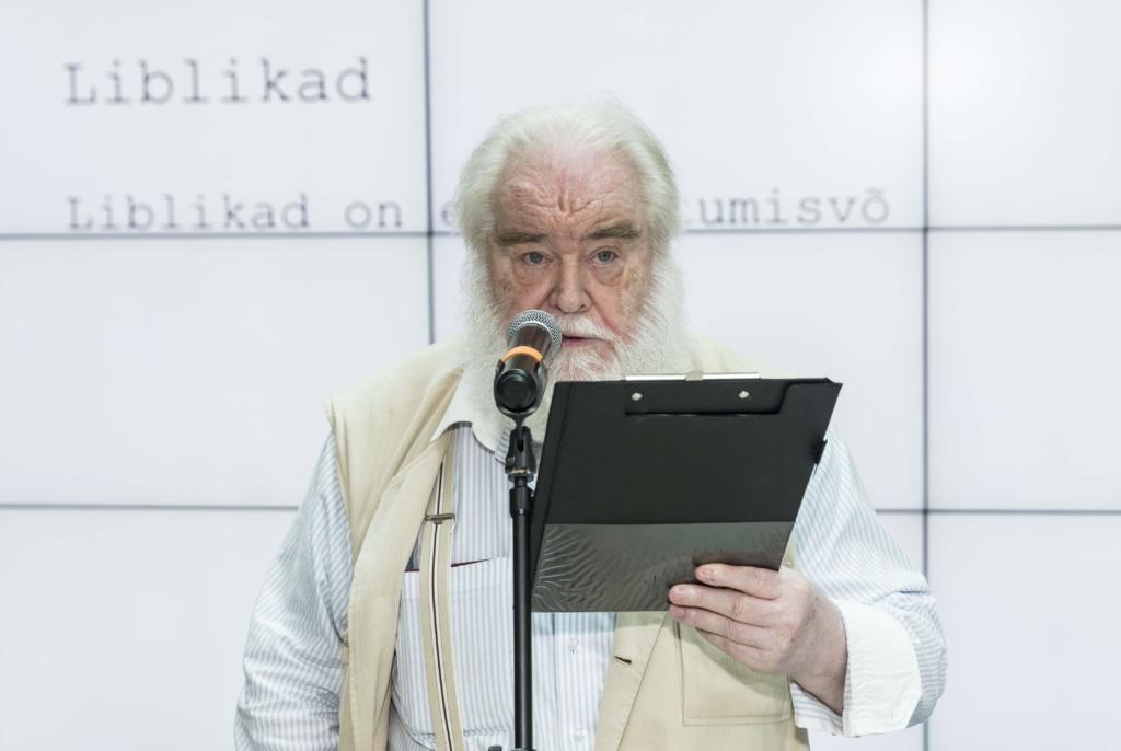 Raul Meel projekti avaüritusel Kumus kõnet pidamas